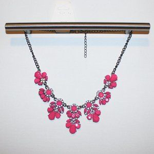 Hot Pink Floral Pedal Fashion Necklace NWT
